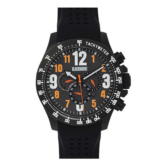 Blackhawk Race Operator Watch Black / Orange / Luminous