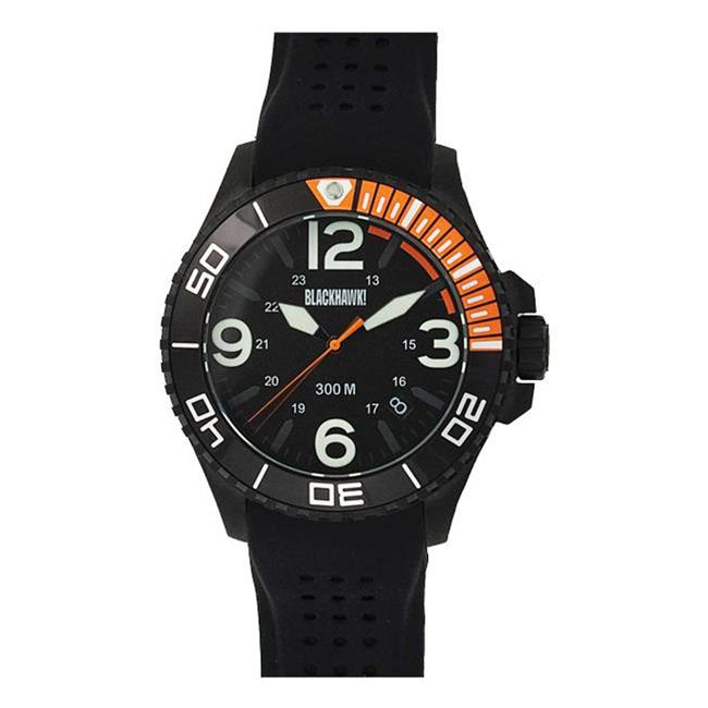 Blackhawk Deep Sea Operator Watch Black / Orange / Luminous