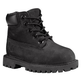 "Kids' Timberland Toddler 6"" Classic WP Black Nubuck"