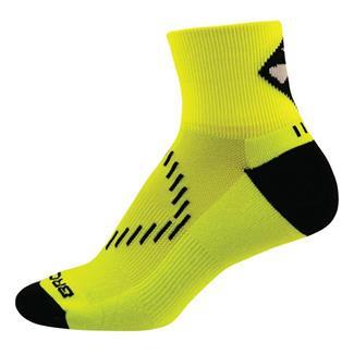 Brooks NightLife Quarter Socks Neon Yellow / Black
