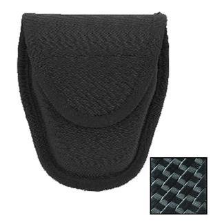 Blackhawk Molded Double Handcuff Case Basket Weave Black