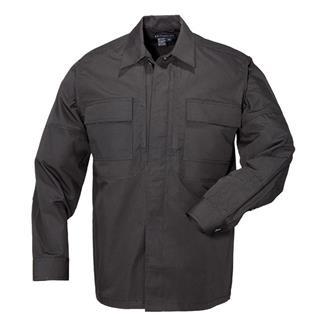 5.11 Long Sleeve Poly / Cotton Ripstop TDU Shirts Black