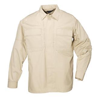 5.11 Long Sleeve Poly / Cotton Ripstop TDU Shirts TDU Khaki