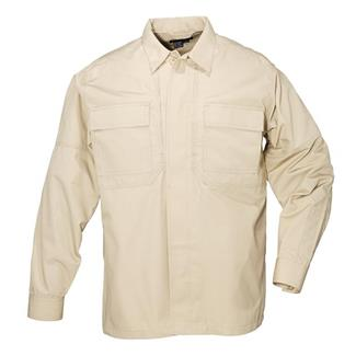 5.11 Long Sleeve Poly / Cotton Ripstop TDU Shirts TDU Khaki