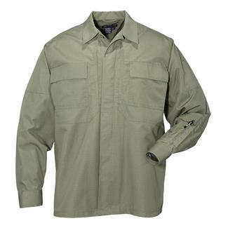 5.11 Long Sleeve Poly / Cotton Ripstop TDU Shirts TDU Green