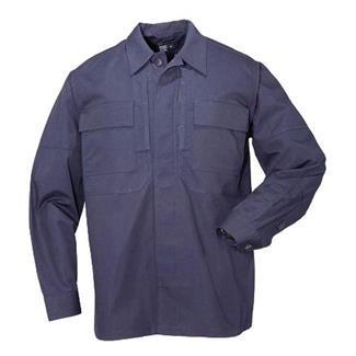 5.11 Long Sleeve Poly / Cotton Ripstop TDU Shirts Dark Navy