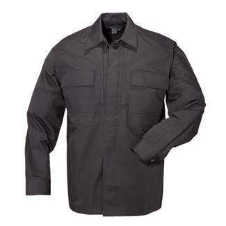 5.11 Long Sleeve Poly / Cotton Ripstop Taclite TDU Shirts Black
