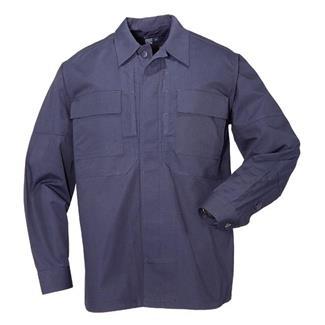 5.11 Long Sleeve Poly / Cotton Ripstop Taclite TDU Shirts Dark Navy