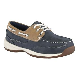 Rockport Works Sailing Club Boat Shoe ST Navy Blue / Tan