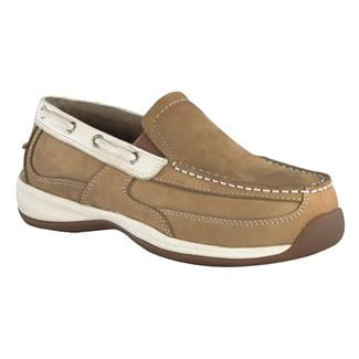 Rockport Works Sailing Club Boat Shoe Slip-On ST Tan / Cream