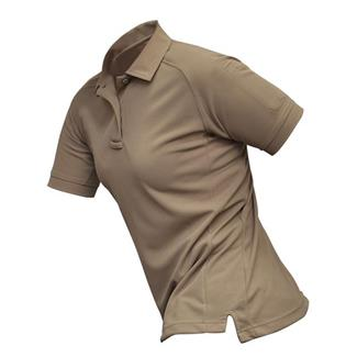 Vertx Coldblack Short Sleeve Polo Silver Tan