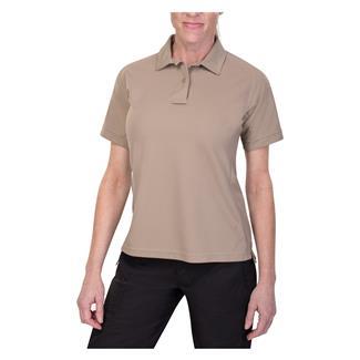 Vertx Coldblack Short Sleeve Polo Silver Tan
