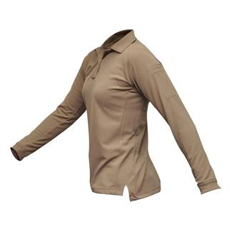 Vertx Coldblack Long Sleeve Polo Silver Tan