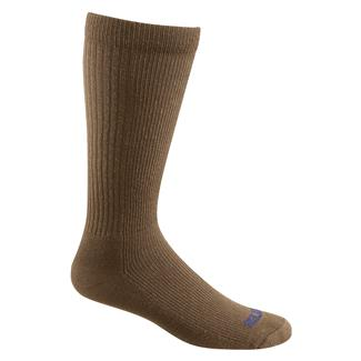 Bates Thermal Uniform Mid Calf Socks - 4 Pair Coyote Brown