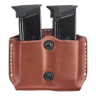 Gould & Goodrich Gold Line Paddle Style Double Mag Case Chestnut Brown