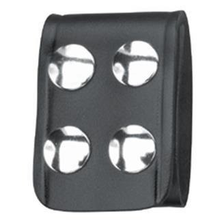 Gould & Goodrich Leather 4-Pack Quad Snap Belt Keeper Black