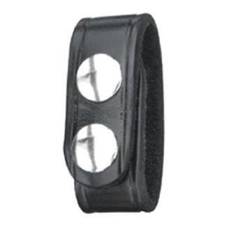 Gould & Goodrich Leather Double Snap Belt Keeper Black Plain