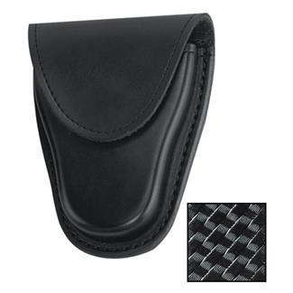 Gould & Goodrich K-Force Hidden Snap Chain Handcuff Case Black Basket Weave