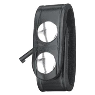 Gould & Goodrich Leather Hidden Cuff Key Belt Keeper High Gloss Black