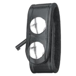 Gould & Goodrich Leather Hidden Cuff Key Belt Keeper Black High Gloss