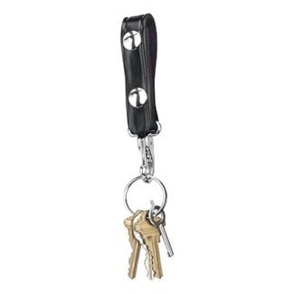 Gould & Goodrich Leather Key Strap Black