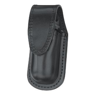 Gould & Goodrich Leather MK III Aerosol Case with Hidden Snap Black Plain