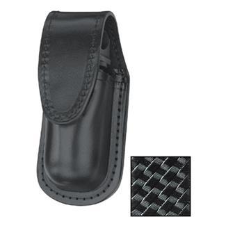 Gould & Goodrich Leather MK III Aerosol Case with Hidden Snap Basket Weave Black