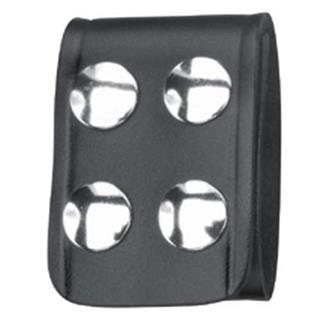 Gould & Goodrich Leather Quad Snap Belt Keeper Black