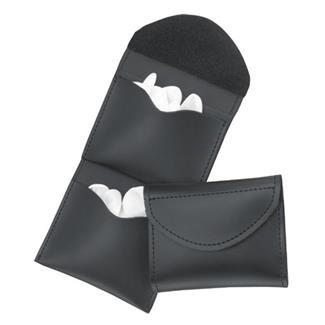 Gould & Goodrich Leather Two-Pocket Glove Case Plain Black