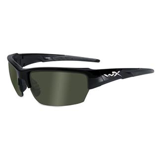 Wiley X Saint Gloss Black Polarized Smoke Green 1 Lens