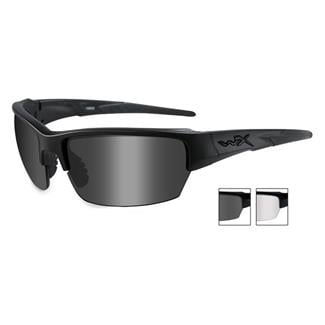 Wiley X Saint Matte Black (frame) - Smoke Gray / Clear (2 Lens)