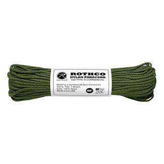 Rothco Nylon 550 LB Type III Commercial Paracord - 100ft Olive Drab
