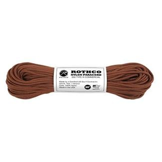 Rothco Nylon 550 LB Type III Commercial Paracord - 100ft Chocolate Brown
