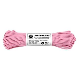 Rothco Nylon 550 LB Type III Commercial Paracord - 100ft Rose Pink