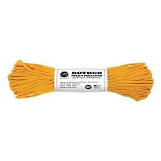 Rothco Nylon 550 LB Type III Commercial Paracord - 100ft Goldenrod