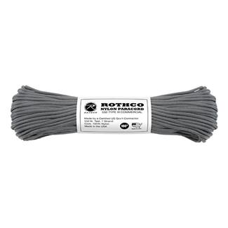 Rothco Nylon 550 LB Type III Commercial Paracord - 100ft Charcoal Grey