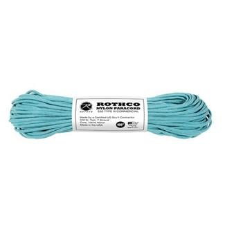 Rothco Nylon 550 LB Type III Commercial Paracord - 100ft Turquoise