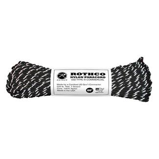Rothco Nylon 550 LB Type III Commercial Paracord - 100ft Reflective Tracer