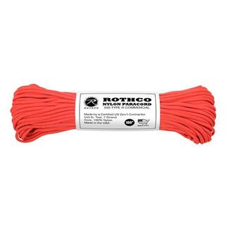 Rothco Nylon 550 LB Type III Commercial Paracord - 100ft Red