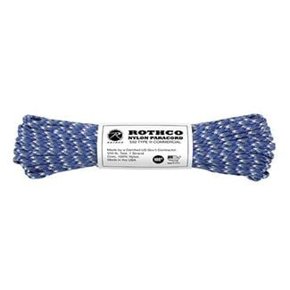 Rothco Nylon 550 LB Type III Commercial Paracord - 100ft Blue Camo