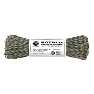 Rothco Nylon 550 LB Type III Commercial Paracord - 100ft Camo