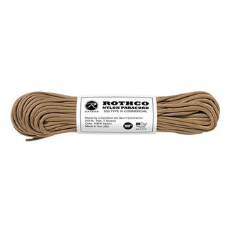 Rothco Nylon 550 LB Type III Commercial Paracord - 100ft Tan