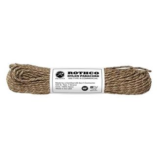 Rothco Nylon 550 LB Type III Commercial Paracord - 100ft Desert Camo