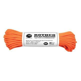 Rothco Nylon 550 LB Type III Commercial Paracord - 100ft Safety Orange