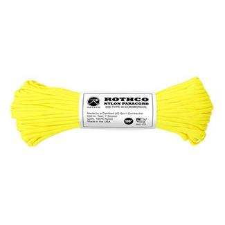 Rothco Nylon 550 LB Type III Commercial Paracord - 100ft Neon Yellow