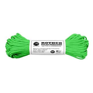 Rothco Nylon 550 LB Type III Commercial Paracord - 100ft Safety Green