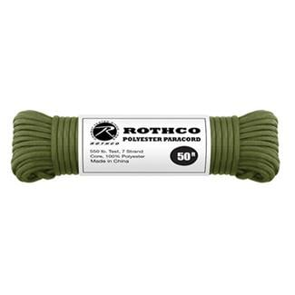 Rothco Polyester 550 LB Commercial Paracord - 50ft Olive Drab