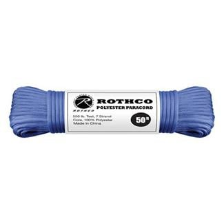 Rothco Polyester 550 LB Commercial Paracord - 50ft Royal Blue