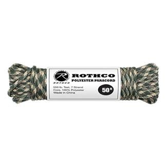 Rothco Polyester 550 LB Commercial Paracord - 50ft Camo