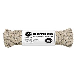 Rothco Polyester 550 LB Commercial Paracord - 50ft Desert Camo